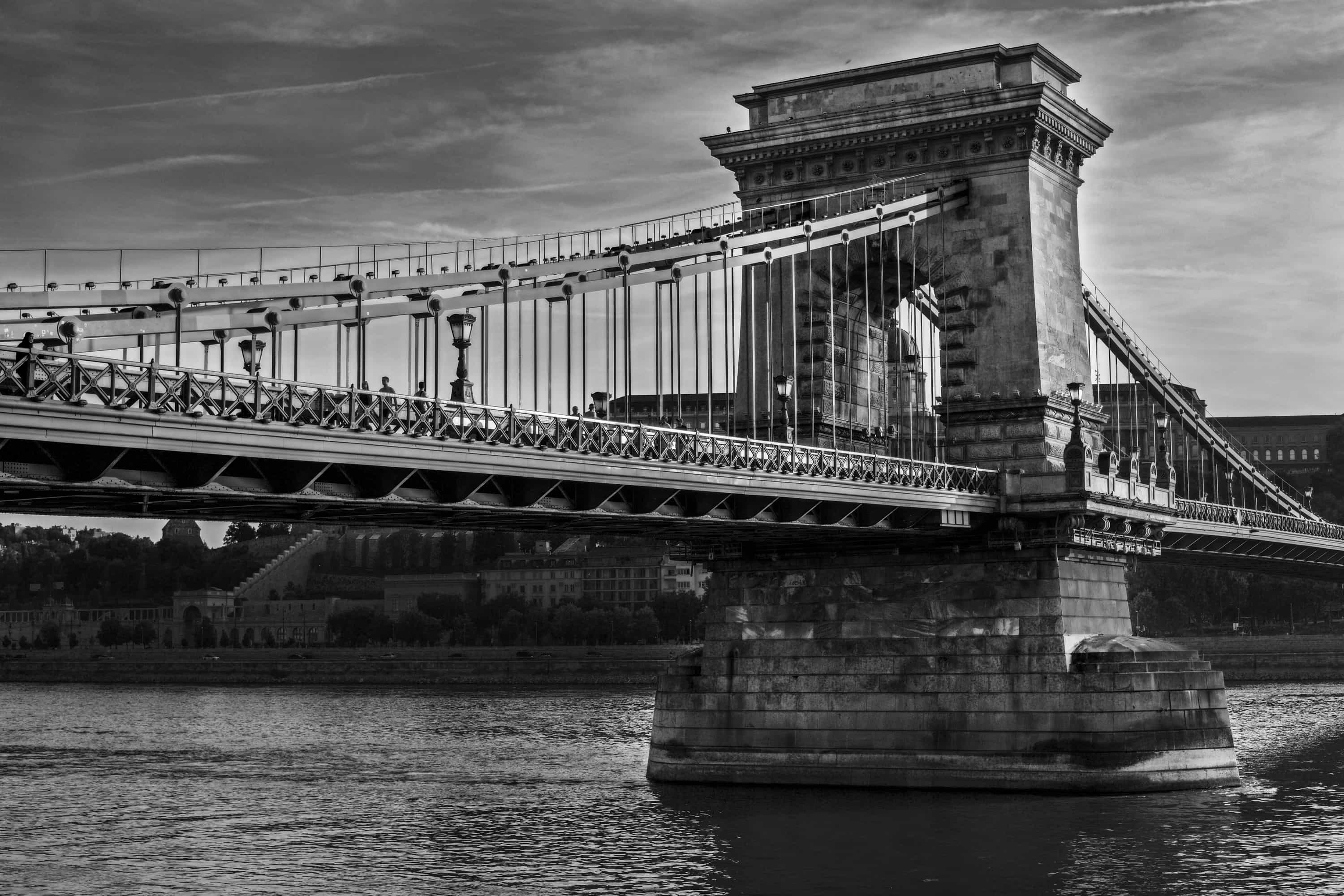Chain Bridge BW