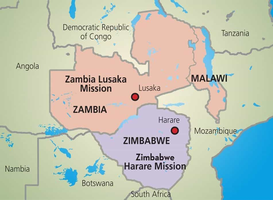 Zambia Africa Map africa former rhodesia now zambia and zimbabwe or ...
