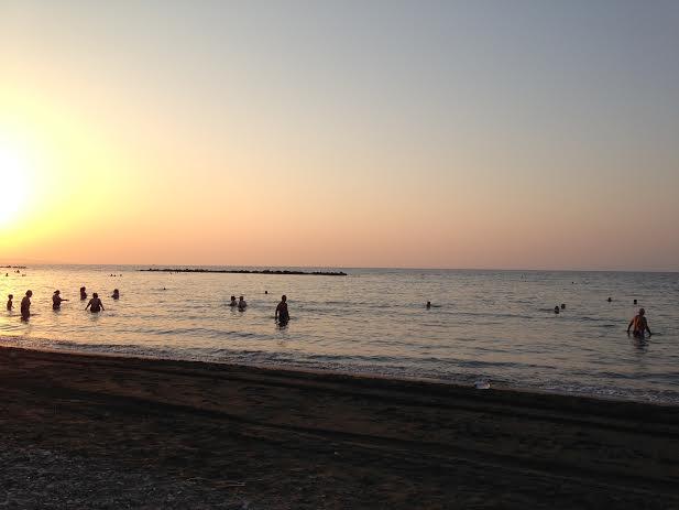 Cyprus sunrise swimmers