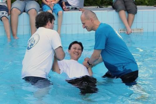 chinese man baptism