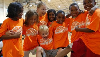 kids at basketball camp